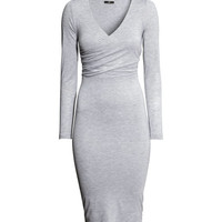 Long-sleeved Jersey Dress - from H&M