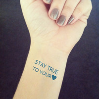 InknArt Temporary Tattoo - 1pcs Stay True to Your Heart tattoo body sticker fake tattoo wrist wedding tiny tattoo
