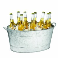 TableCraft BT1914 Remington Collection Galvanized Steel Beverage Tub, 19 Inch by 14 Inch by 9 Inch