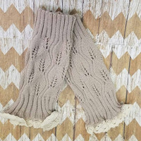 Lace Boot Cuffs - Beige