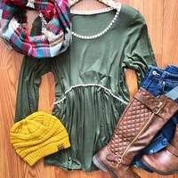 Dream On Olive Top