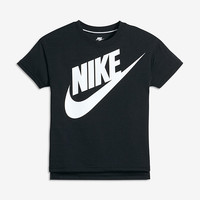 The Nike Signal Big Kids' (Girls') Short Sleeve Training Top (XS-XL).