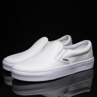 Trendsetter Vans Slip-On Classic Leather Flats Sneakers Sport Shoes
