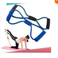 random color 1pc Resistance Training Bands Tube Workout Exercise for Yoga 8 Type Fashion Body Building Fitness Equipment Tool = 1932034372