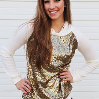 Mother Of All Sequin Hoodie {Ivory}