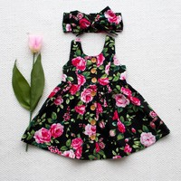Toddler Girl Summer Dress Kids Clothes 2017 Brand  Girls Costumes Princess Dress Flower Children Dresses Clothing