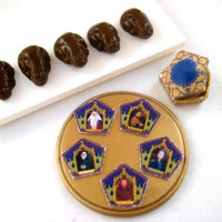 Harry Potter Chocolate Frog in half inch dollhouse miniature scale with free famous witch or wizard card