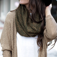 Trust Me Green & Brown Scarf - One