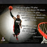 Lebron James Miami Heat Pro Quote Framed Picture 11x14