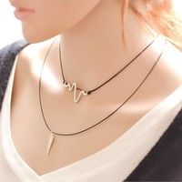 Gift Jewelry New Arrival Shiny Korean Simple Design Stylish Innovative Chain Vintage Necklace [7587089607]