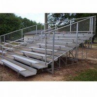 Bleachers 21L with Fence, 10 Rows 140 Seats - Alumagoal VIP Series
