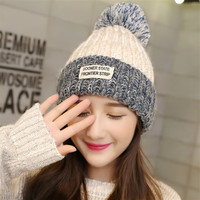 2016 Chiristmas Winter Women Red Confetti Knitted Hats Upset Warm Winter Pompm Beanie Hats Hip Hop Mom and Me Family Touca Hats