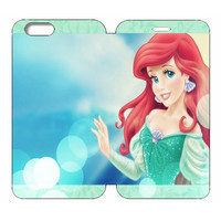 "Disney Princesses (Ariel) Wallet Case w/ Stand Flip Cover for iPhone 6/6s (4.7"")"
