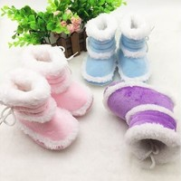 Toddler Kids Baby Boots Soft Bottom Crib Shoes Infant Girls Winter Warm Booties [9305888263]