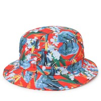 Modern Amusement Elephant Floral Bucket Hat - Mens Backpack - Red - One