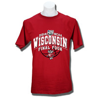 JanSport T-shirt Arched Wisconsin Final Four 2014 (Red)   University Book Store