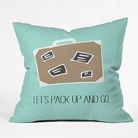 Allyson Johnson Lets pack up and go Throw Pillow