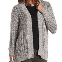 Marled Pointelle Cardigan Sweater by Charlotte Russe