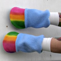 My Little Pony Custom plush fingerless Glove Hooves MeMe Rainbow dash MLP FIM from PoppysWickedGarden