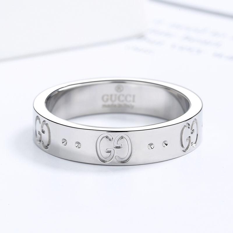 Image of LV louis vuitton GG Ring Double Star Hollow Men's and Women's Letter Valentine's Day Gift Silvery