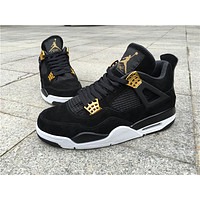 "Air Jordan 4 ""Black Suede"" Basketball Shoes 40-47"