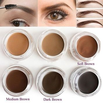 Pro Makeup Eyebrow Cream 5 Colors Waterproof Eye Brow Filler Eyebrow Gel Brown Color