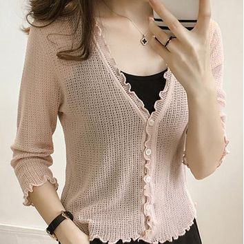 Clobee 2017 shrugs for feminino blusa tricot suits autumn sexy women's knitting sweater female long sleeve cardigan jackets S356
