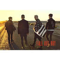 Fall Out Boy On the Road Poster 24x36