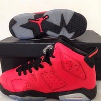 Air Jordan 6 red/black Basketball Shoes 36-40