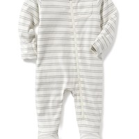 Footed Zip-Front One-Piece for Baby|old-navy