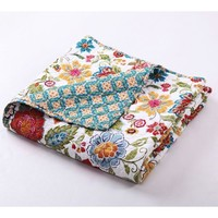 Marisa Floral Print Cotton Throw