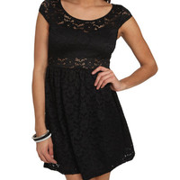 Lace Illusion Skater Dress | Shop Dresses at Wet Seal