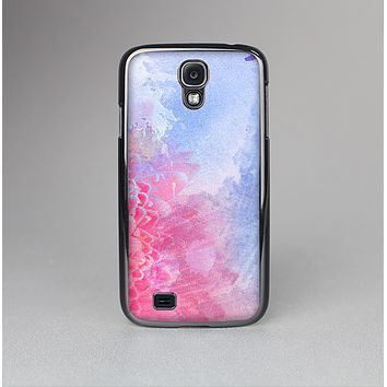 The Pink to Blue Faded Color Floral Skin-Sert Case for the Samsung Galaxy S4