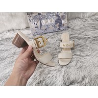 dior women casual shoes boots fashionable casual leather women heels sandal shoes 113
