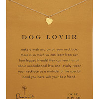 Dog Lover Gold-Dipped Necklace - Dogeared - Gold