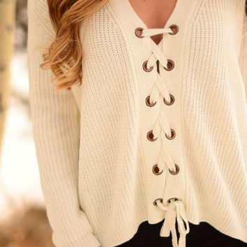 Everyday Elegance Sweater- Ivory