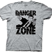 Archer - Sterling Archer Danger Zone Gray T-Shirt
