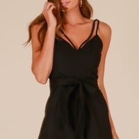 Feel For You playsuit in black Produced By SHOWPO