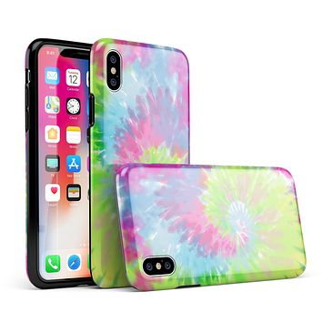 Spiral Tie Dye V7 - iPhone X Swappable Hybrid Case