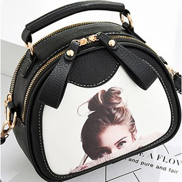 New hot sale fashion all-match crossbody small round shoulder bag