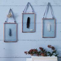 Three Delicate Hanging Frames - Copper - Photo Frames - Decorative Home - Indoor Living