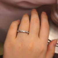 Twist Ring   Silver Rings For Women   Promise Ring for Her, Stack Ring, Cubic Zirconia Ring, Silver Twist Ring, Braid Ring, Size 4 5 6 7 8 9