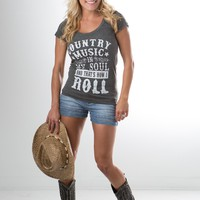 Country Music in My Soul tee in Grey
