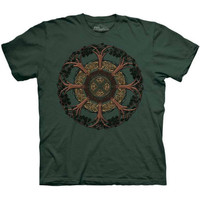 CELTIC TREE The Mountain Mandala Irish Knot Green Adult T-Shirt S-3XL NEW