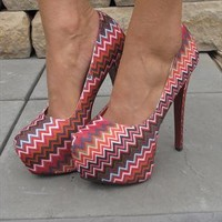 Multi coloured concealed platform shoes from Chockers Shoes