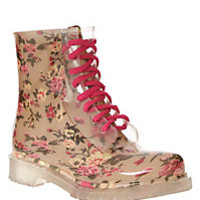 Floral Jelly Boot