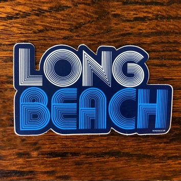 Long Beach 76 - All weather vinyl sticker