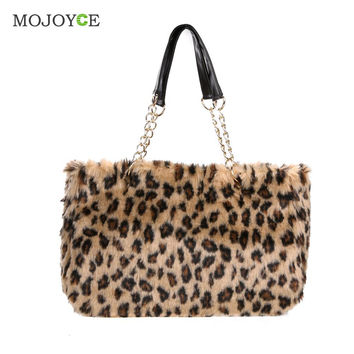 Fashion New Plush Women Bag Fur Chain Handbag Ladies Shoulder Bag Larger Capacity Female Tote Clutch Bolsa Feminina SN9