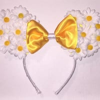 Floral Mickey Mouse Ears Headband (Daisies)