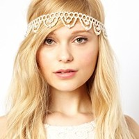 Her Curious Nature Pearl Head Band at asos.com